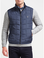 Gant Cloud Quilted Gilet, Navy
