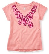 Tea Collection Girl's Ruby Flower Graphic Tee