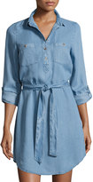 Alexia Admor Belted Chambray Shirtdress, Blue