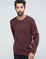 ONLY & SONS Knitted Crew Neck with Contrast Yarn Panel