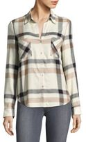 L'Agence Plaid Long-Sleeve Button-Down Shirt