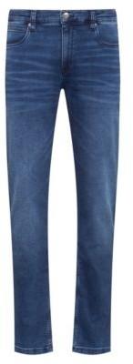 HUGO BOSS Slim Fit Jeans In Blue Jersey Denim - Blue