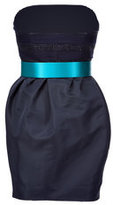 Jason Wu Navy Strapless Belted Dress