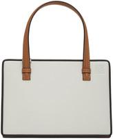 Loewe Grey and Tan Postal Bag