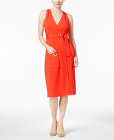 Kensie Grommet-Detail Wrap Dress