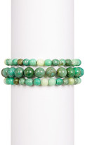 Charlene K Green Beaded Stretch Bracelet - Set of 3