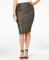 Soprano Trendy Plus Size Sparkle Pencil Skirt