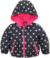 Pink Platinum Baby Girls Polka Dot Active Hooded Jacket Spring Coat