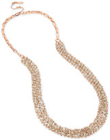 Kenneth Cole New York Rose Gold-Tone Stone Cluster Collar Necklace