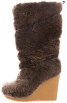 Tory Burch Faux-Fur Mid-Calf Boots