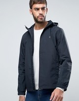 Farah Newbern Hooded Rain Jacket in Black