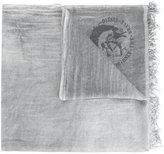 Diesel logo pattern scarf - unisex - Modal - One Size