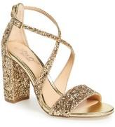 Badgley Mischka Women's Cook Block Heel Glitter Sandal