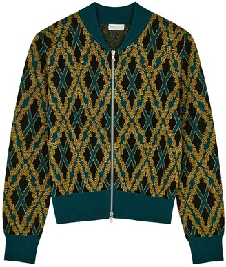 Dries Van Noten Malta Intarsia Stretch-knit Bomber Jacket