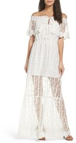Adelyn Rae Women's Josephine Off The Shoulder Lace Maxi Dress