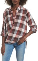 Blank NYC Women's Blanknyc Check Wrap Front Shirt