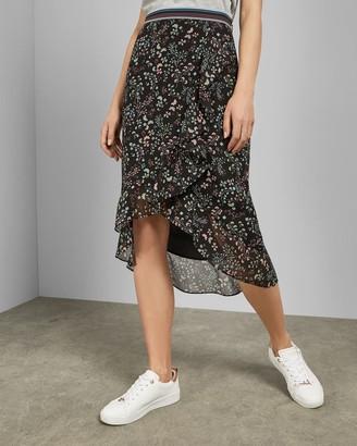Ted Baker Hazel Frill Detail Midi Skirt