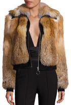 A.L.C. Boyce Fox Fur & Suede Jacket