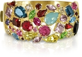 Forzieri Gold Plated Metal Bangle w/Crystals