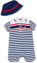 Little Me 2-Pc. Hat & Striped Romper Set, Baby Boys (0-24 months)