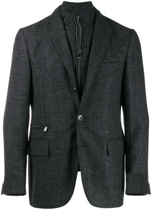 Corneliani layered zip-up blazer