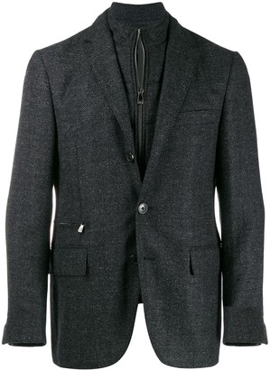 Corneliani Layered Zip-Up Blazer