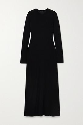 ATM Anthony Thomas Melillo Paneled Modal-jersey Maxi Dress - Black