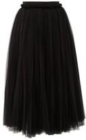 Dolce & Gabbana Layered Tulle Midi Skirt - Womens - Black