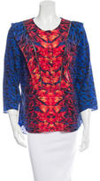 Veronica Beard Silk Abstract Print Blouse