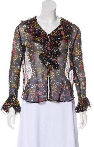 See by Chloe Sheer Silk Top