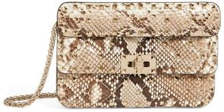 Valentino Garavani Small Rockstud Spike Python Cross-Body Bag