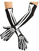 Fun World Costumes Skeleton Opera Length Gloves