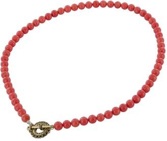 Ashanti Coral Bamboo 14 Karat Gold Filled Handmade Bead Necklace