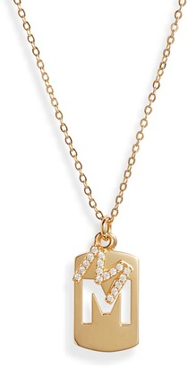 Nordstrom Initial Dog Tag Pendant Necklace