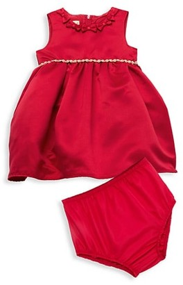 Purple Rose Baby Girl's 2-Piece Satin Dress & Bloomers Set