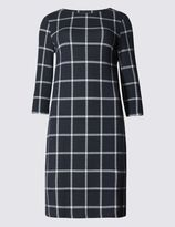 Marks and Spencer Checked 3/4 Sleeve Shift Dress