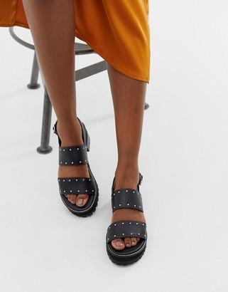 Asos DESIGN Fenrick premium chunky leather studded flat sandals