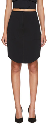 we11done Black Bonded Jersey Miniskirt