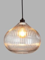 Thumbnail for your product : John Lewis & Partners Raindrop Easy-to-Fit Glass Ceiling Shade, Clear