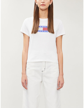 Tommy Jeans Bling logo-embellished cotton-jersey T-shirt