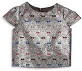 Milly Minis Girl's Metallic Cap Sleeve T-Shirt