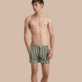 Burberry Pyjama Stripe Swim Shorts , Size: Xl, Green