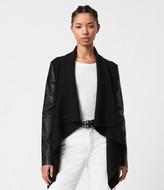 AllSaints Women's Merino Wool Relaxed Fit Lucia Cardigan, Black, Size: XS