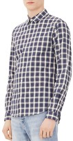 Sandro Yosemite Check Classic Fit Button Down Shirt