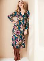 Kaleidoscope Floral Print Midi Dress