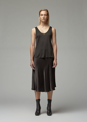 VIDEN Women's Kallen Tank Top in Black Size XS Silk/Viscose
