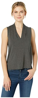 Vince Camuto Sleeveless V-Neck Top (Medium Heather Grey) Women's Clothing