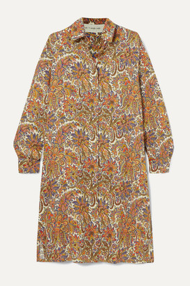 Etro Paisley-print Wool And Silk-blend Dress - Beige