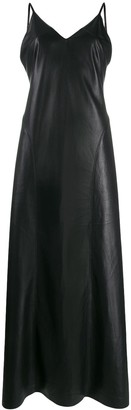 Nanushka Anira vegan leather slip dress