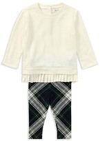 Ralph Lauren Girls' Pleated Sweatshirt & Leggings Set - Baby